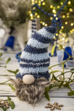 Fotografie květin, fotky květinových dekorací pro publikace na téma fotografie, květiny, kytky, dekorace, fotky, advent, blue, christmas, decoration, dwarf, home, indoor, nobody, sock, table, xmas